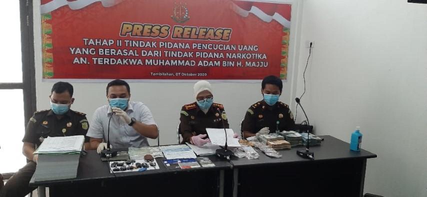 Kasus Bandar Narkoba Adam Dilimpahkan ke Kejari Inhil