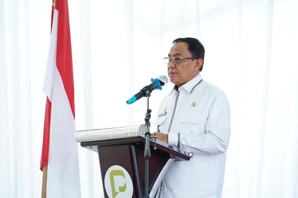 Bupati Wardan Hadiri Peletakan Batu Pertama Terminal BBM