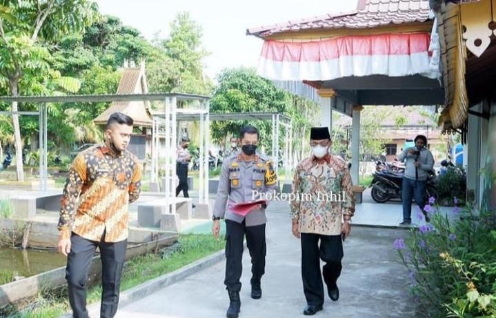 Bupati Inhil Ikuti Rapat Kordinasi Penanganan Covid 19 dan Mitigasi Bencana di Wilayah Riau