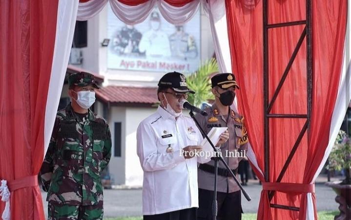 Bupati Wardan Pimpin Apel Gelar Pasukan Operasi Ketupat Lancang Kuning Tahun 2021