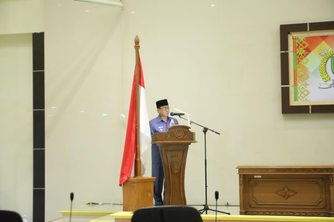 Wakil Ketua DPRD Edy Gunawan Pimpin Rapat Paripurna Rancangan KUA PPAS APBD Inhil TA 2022