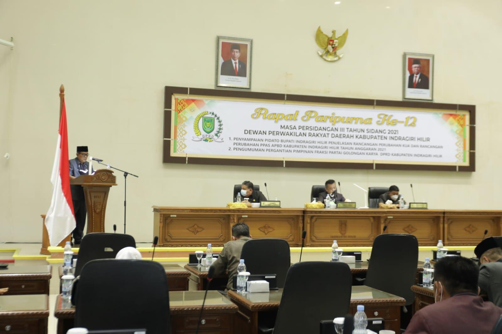 Pemda dan DPRD Inhil Bahas Refocusing Anggaran Perubahan APBD 2021